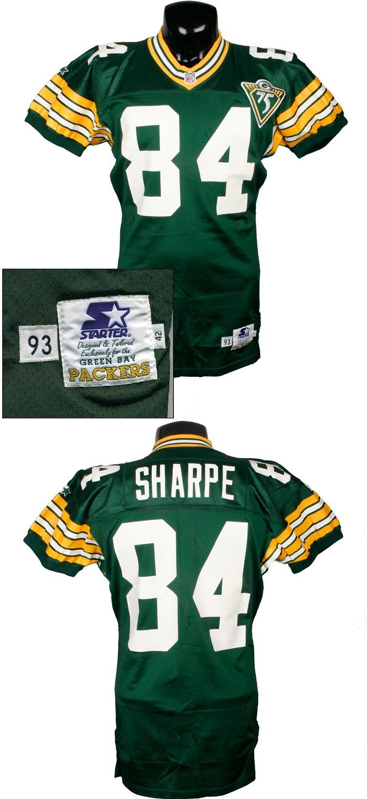 best service 089bd c915b 1993 Sterling Sharpe Game-Worn Packers Jersey (from Record-Breaking Season  w/75th Anniversary Patch)