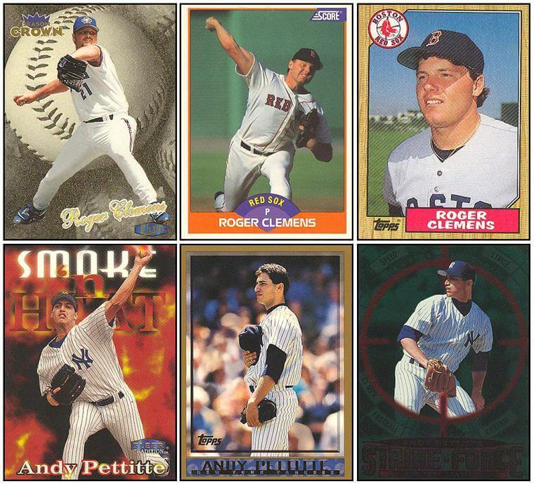 Brothers And Arms Collection 110 Andy Pettitte 235 Roger Clemens W85 Topps Rookie Card Collection