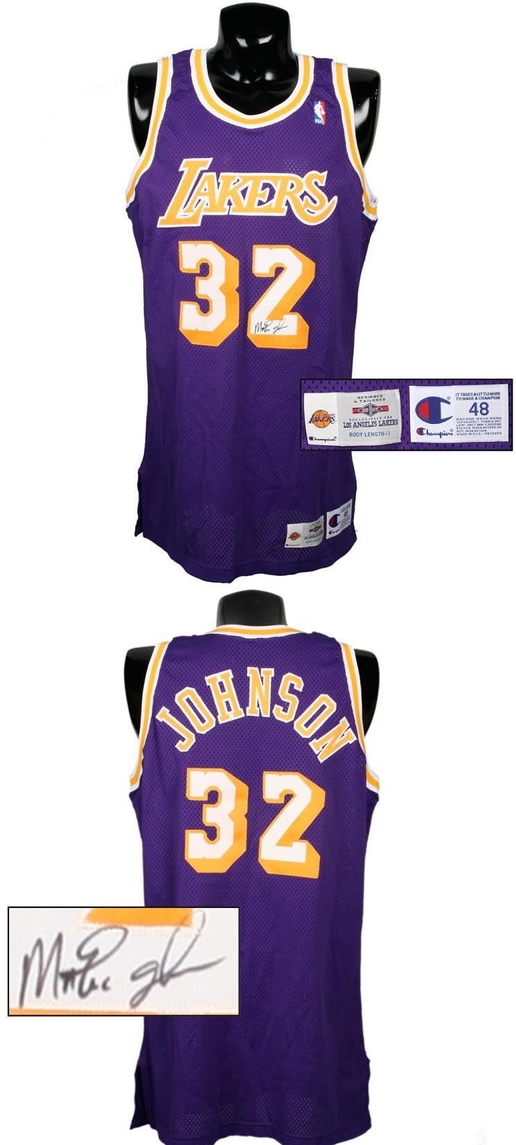 quality design f7957 eaf55 1995-96 Magic Johnson Game-Worn, Signed Lakers Jersey