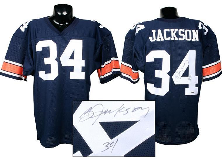 save off 078da 291ba Bo Jackson Signed Auburn Jersey (Tri-Star)