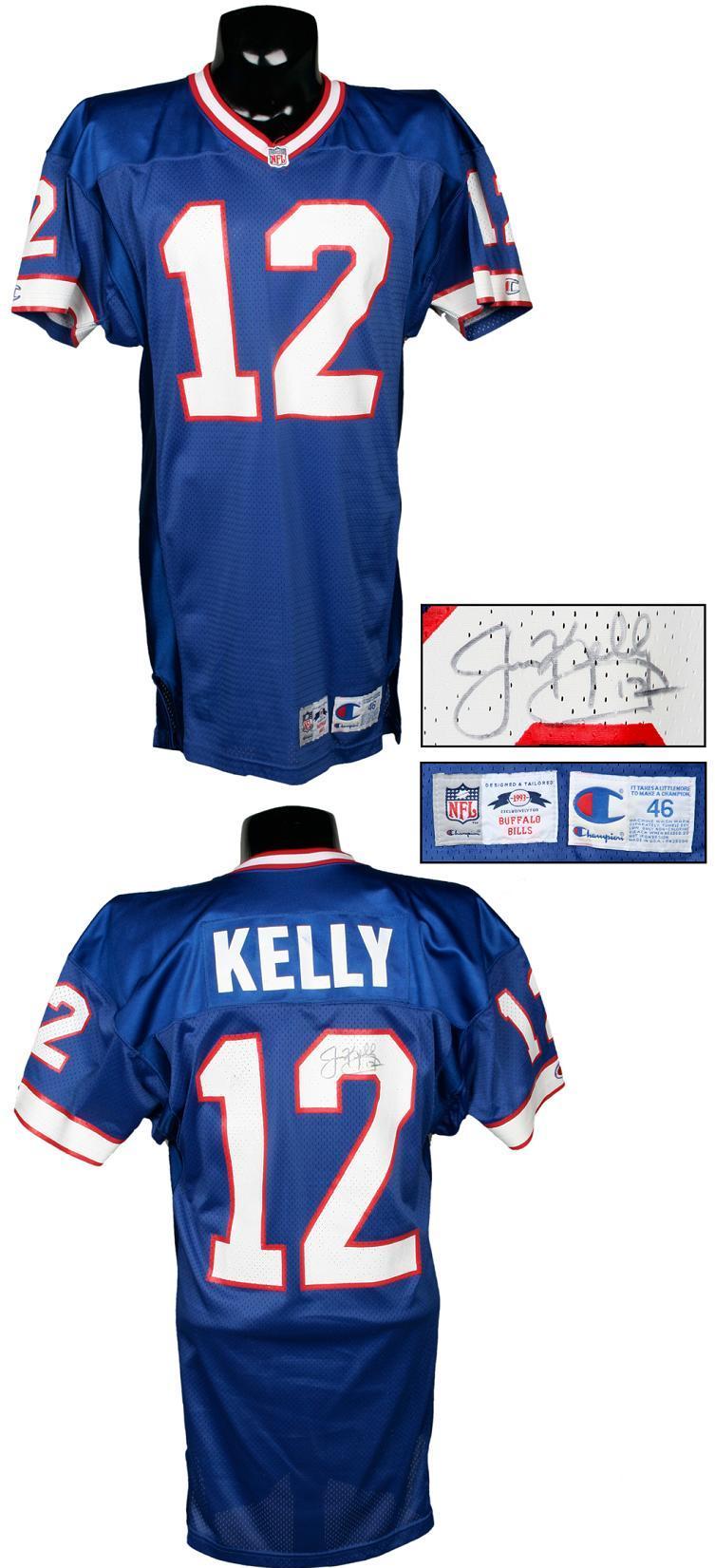 uk availability 293bb d109f 1993 Jim Kelly Game-Worn, Signed Buffalo Bills Jersey