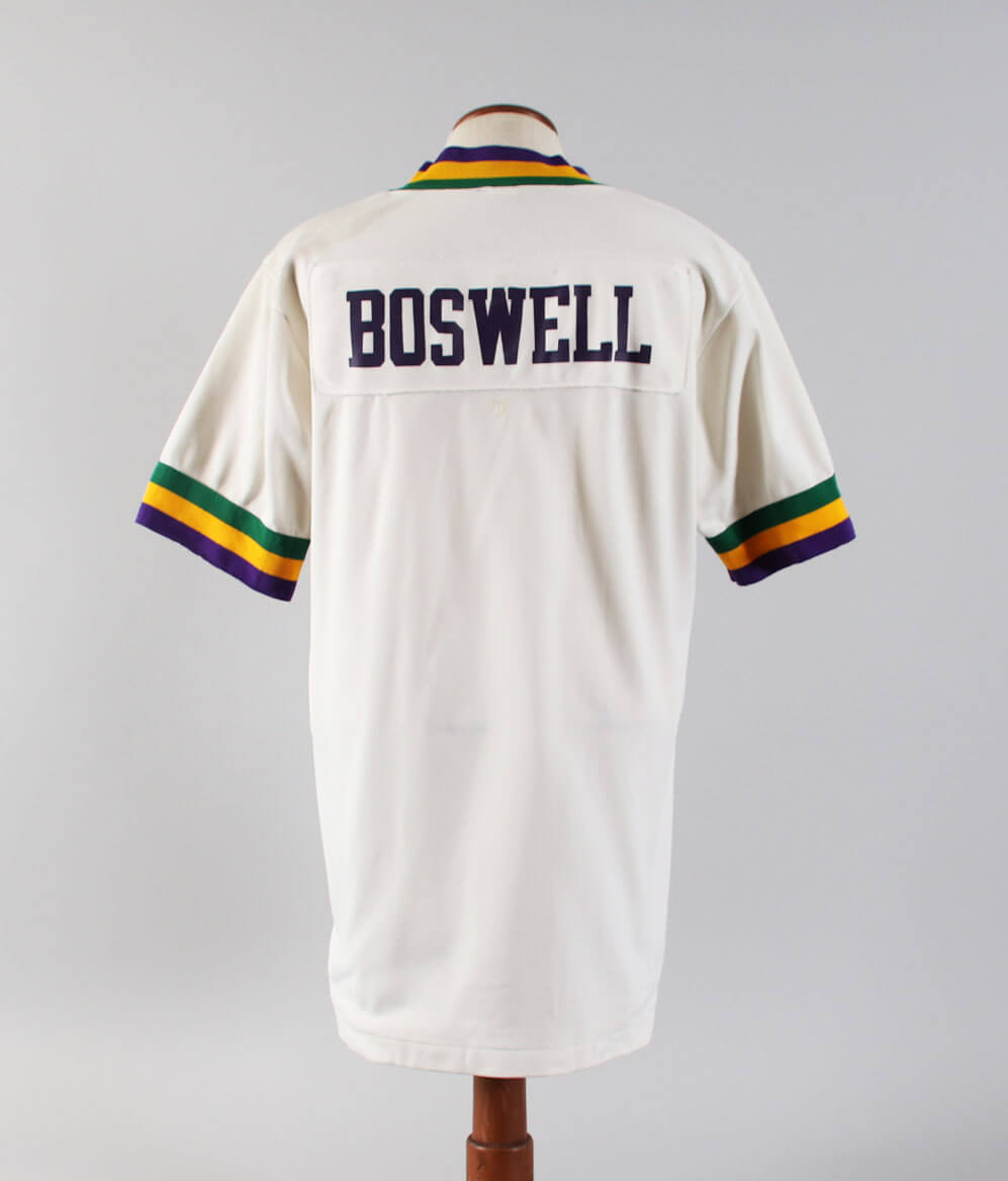 reputable site 38069 d056d 1979-80 Tom Boswell Game-Worn Warm-Up Shirt Jazz