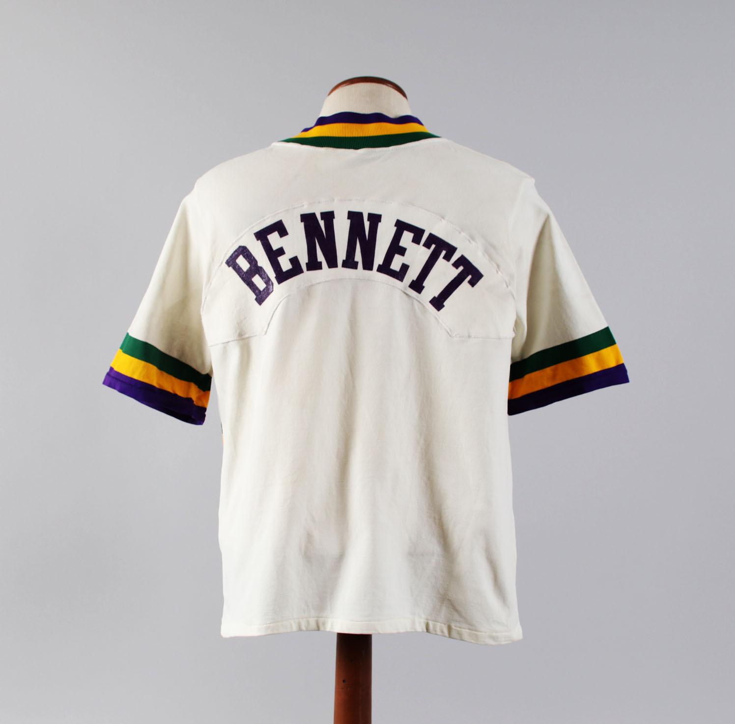 watch a416d 43b33 1980-81 Mel Bennett Game-Worn Warm-Up Shirt Jazz ...