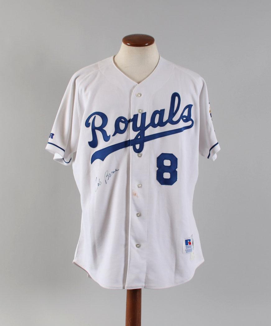 best service 1a9bd eb162 1995 Bob Boone Game-Worn Jersey Signed Kansas City Royals ...