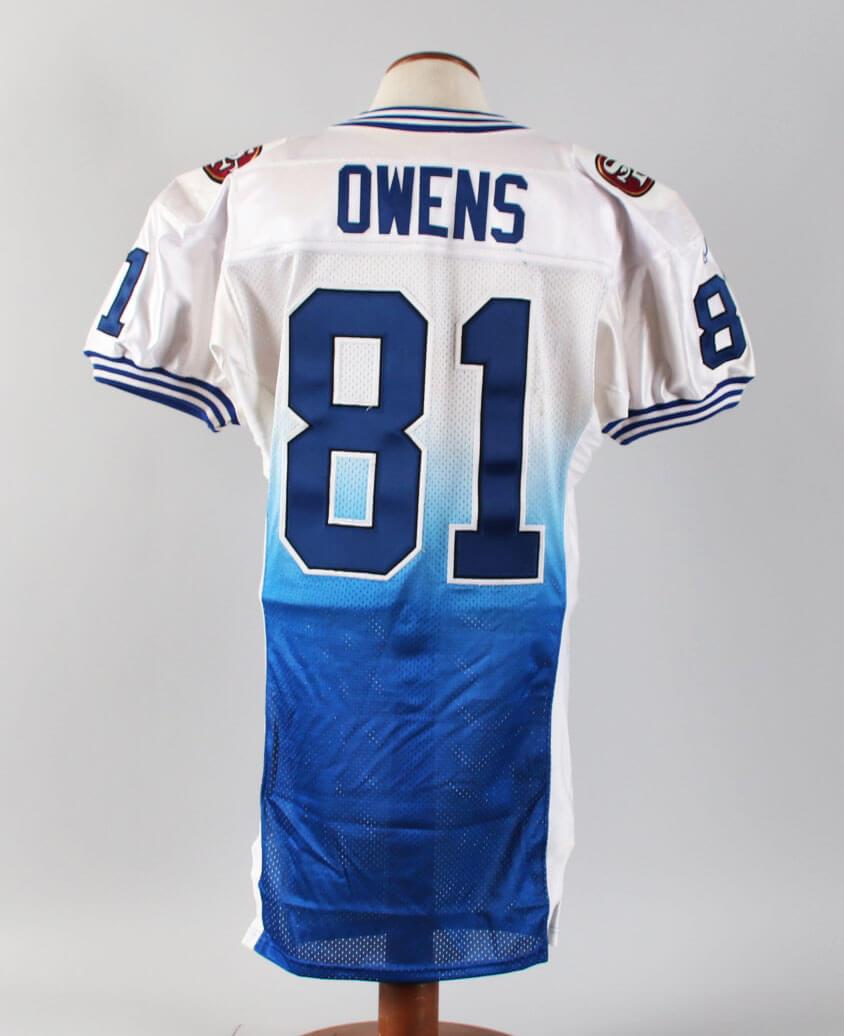 premium selection 1ec4d 5109e Terrell Owens Game-Worn Jersey Uniform 2001 Pro Bowl – COA ...