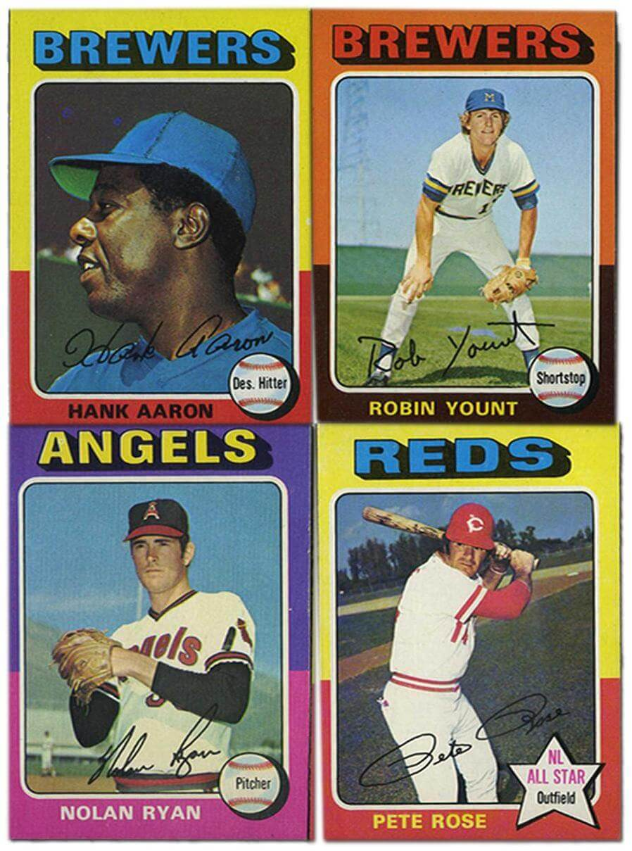 1975 Topps Baseball Complete Set w/Brett and Yount Rookies