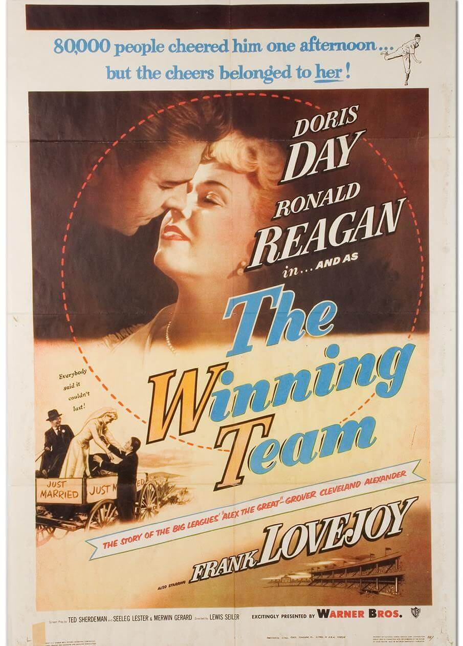 "1952 ""The Winning Team"" Starring Ronald Reagan LE Original Movie ..."