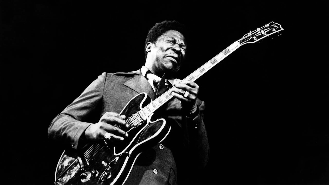 BB KING; Playing guitar live on stage, circa 1971.  (Photo by Charlie Gillett/Redferns)