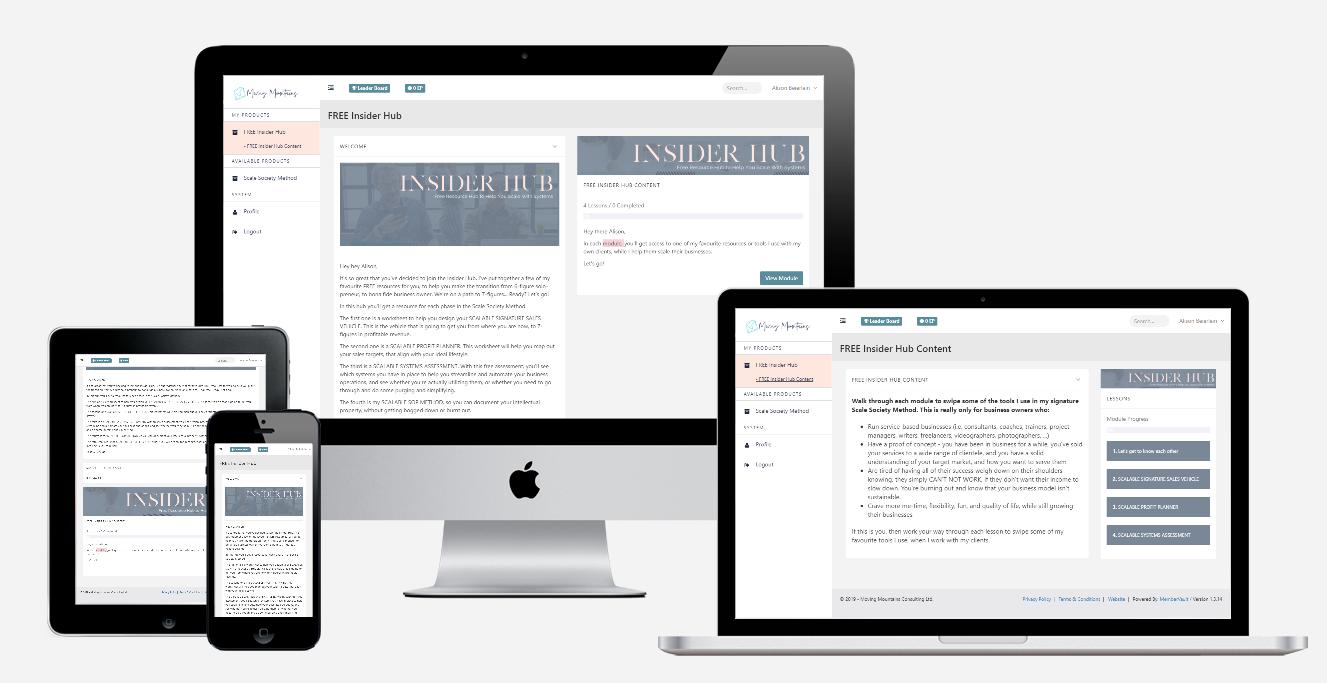 Insider Hub Mockup
