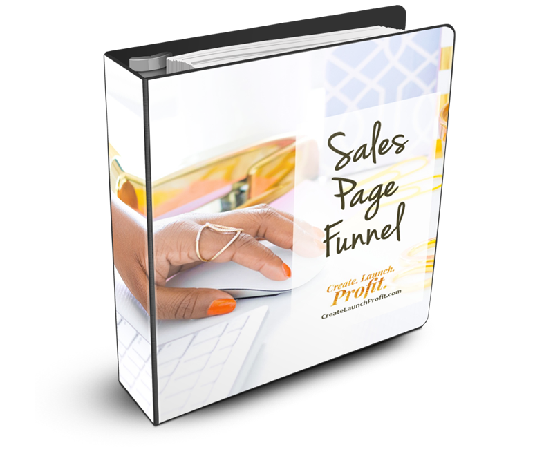 Create Launch Profit Sales Page Funnel Templates