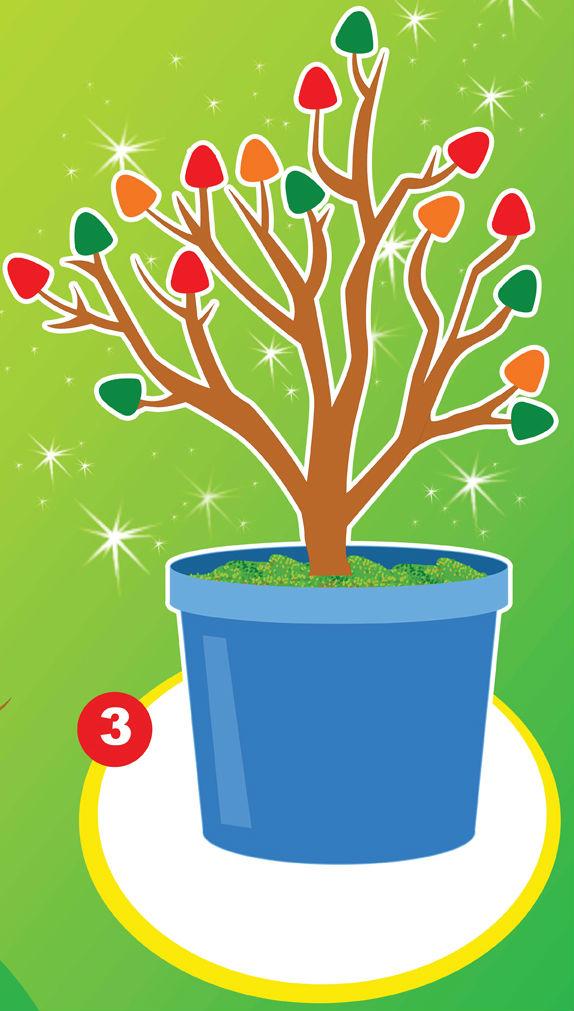 árbol de Navidad con plastilina
