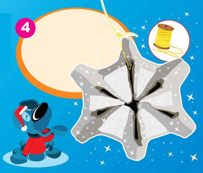 Elabore copos de nieve y decore su casa en esta Navidad