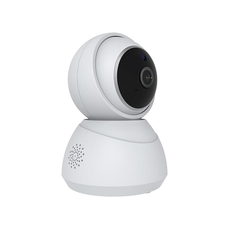 cámara Wi-Fi de seguridad para el hogar con giro / inclinación, 1080p, audio bidireccional, control remoto, visión nocturna