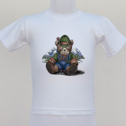 "BABY T-SHIRT ""TEDDY IN THE MOUNTAINS"" IN 2 COLORS"