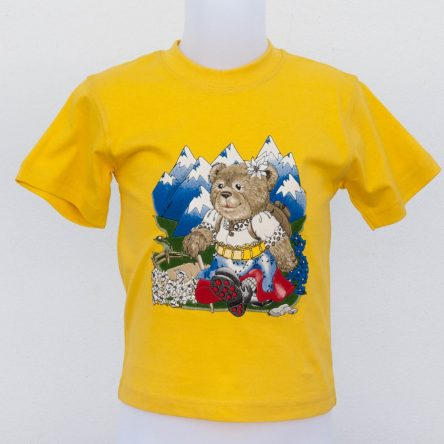 BABY T-SHIRT 'TEDDY GIRL IN THE MOUNTAINS'
