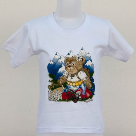 "KIDS T-SHIRT ""TEDDY GIRL IN THE MOUNTAINS"""