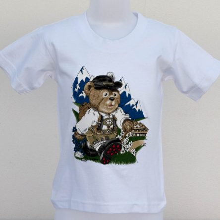 "KIDS T-SHIRT ""TEDDY BOY IN THE MOUNTAINS"""