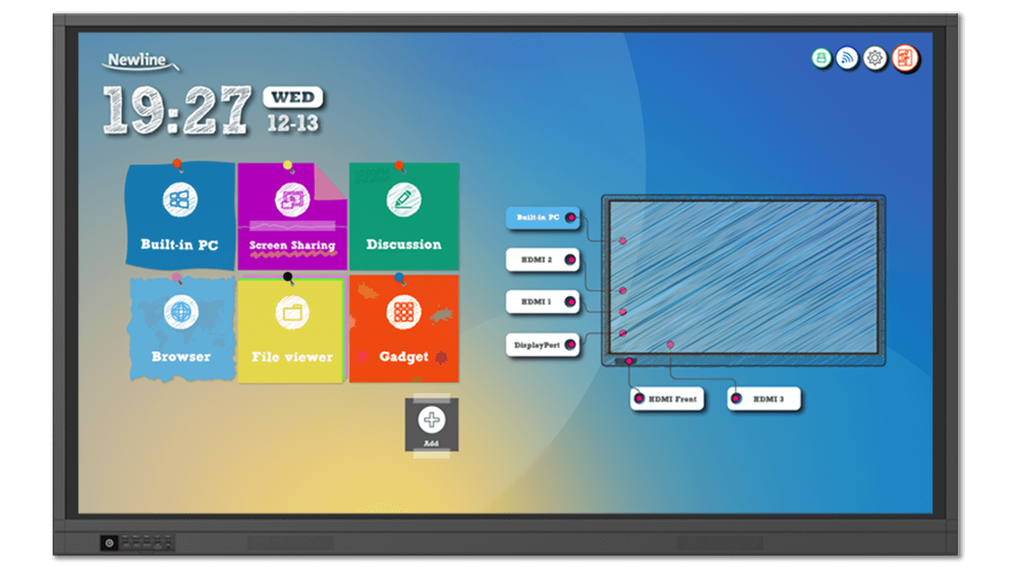 NEWLINE INTERACTIVE, INC TRUTOUCH 860RS ULTRA-HD LED MULTI-TOUCH DISPLAY