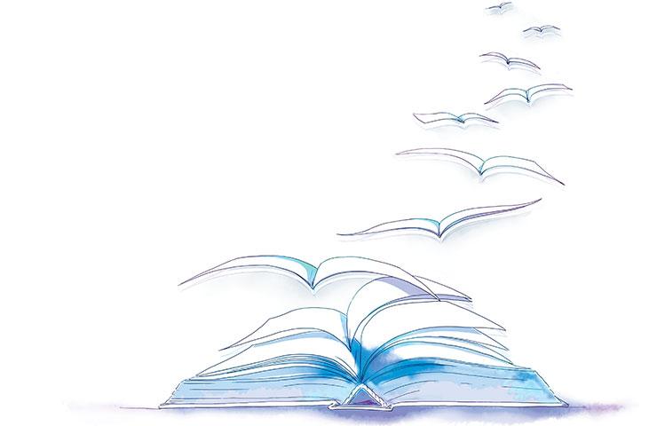 Lectura, cielo y mar