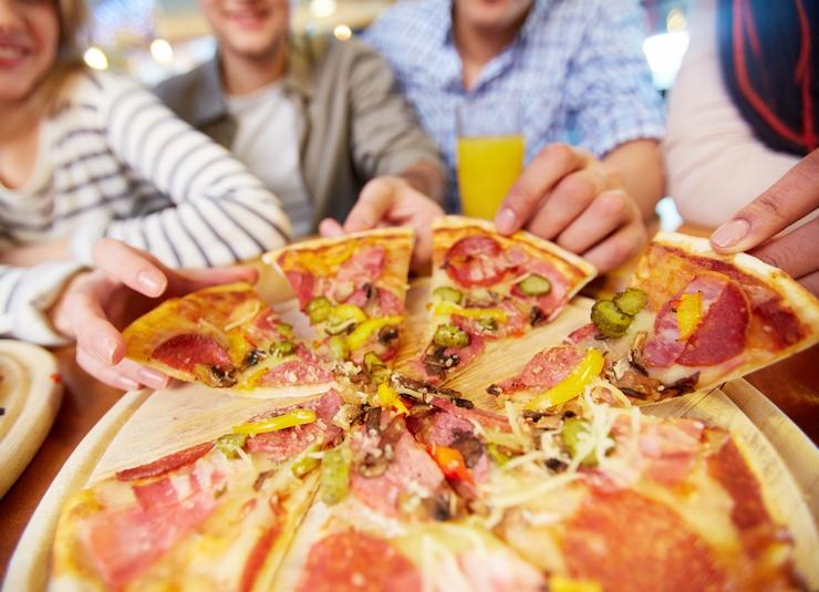 Una deliciosa pizza artesanal