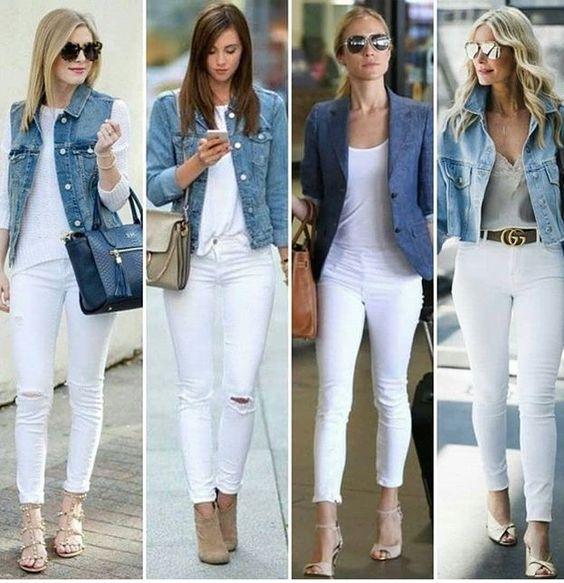 Cinco ideas para combinar los jeans blancos