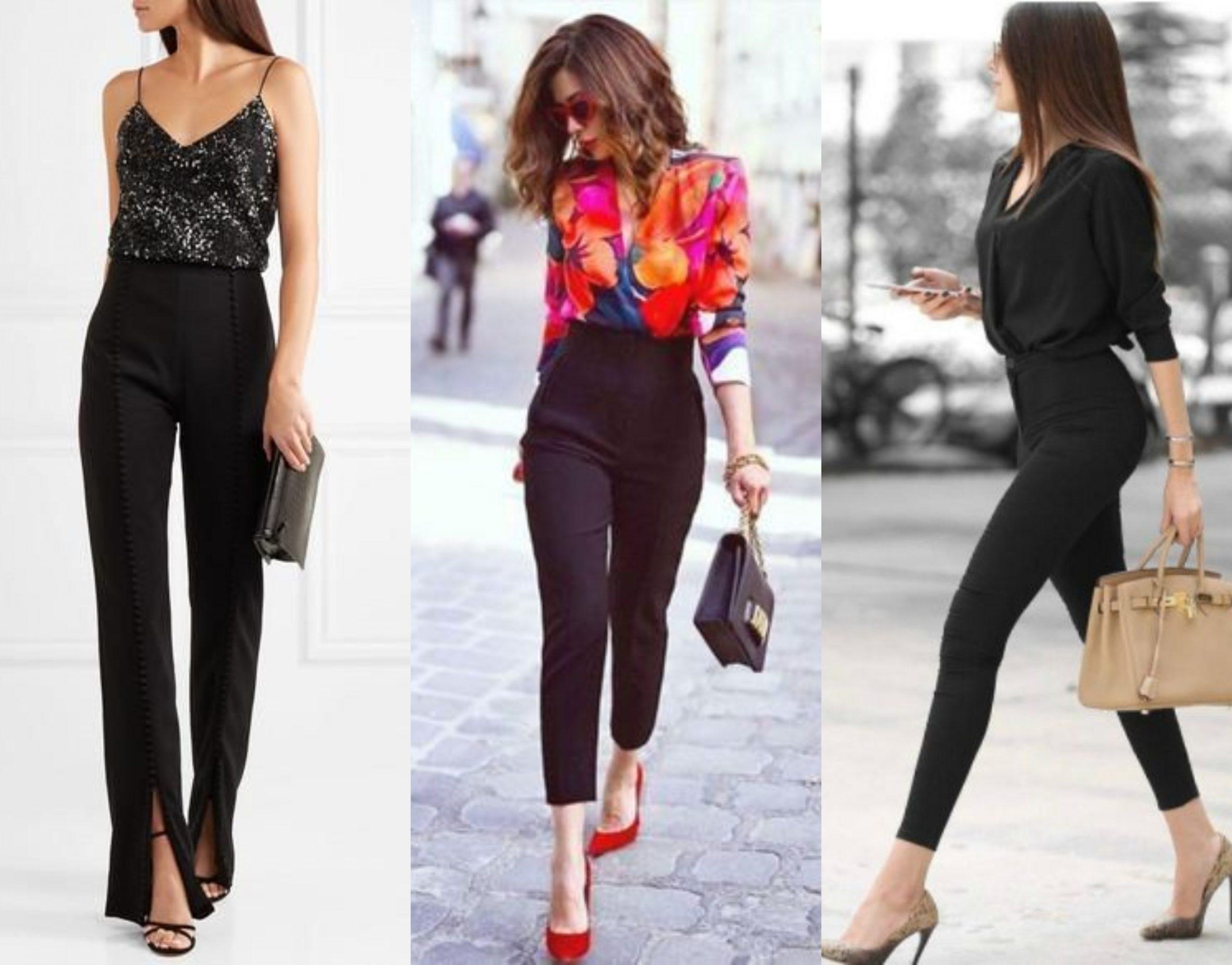 Cinco pantalones negros que estilizan tu figura