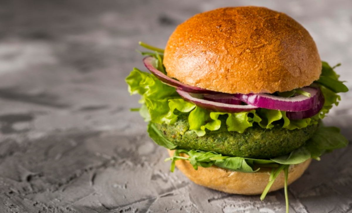 Hamburguesa vegetariana con lentejas