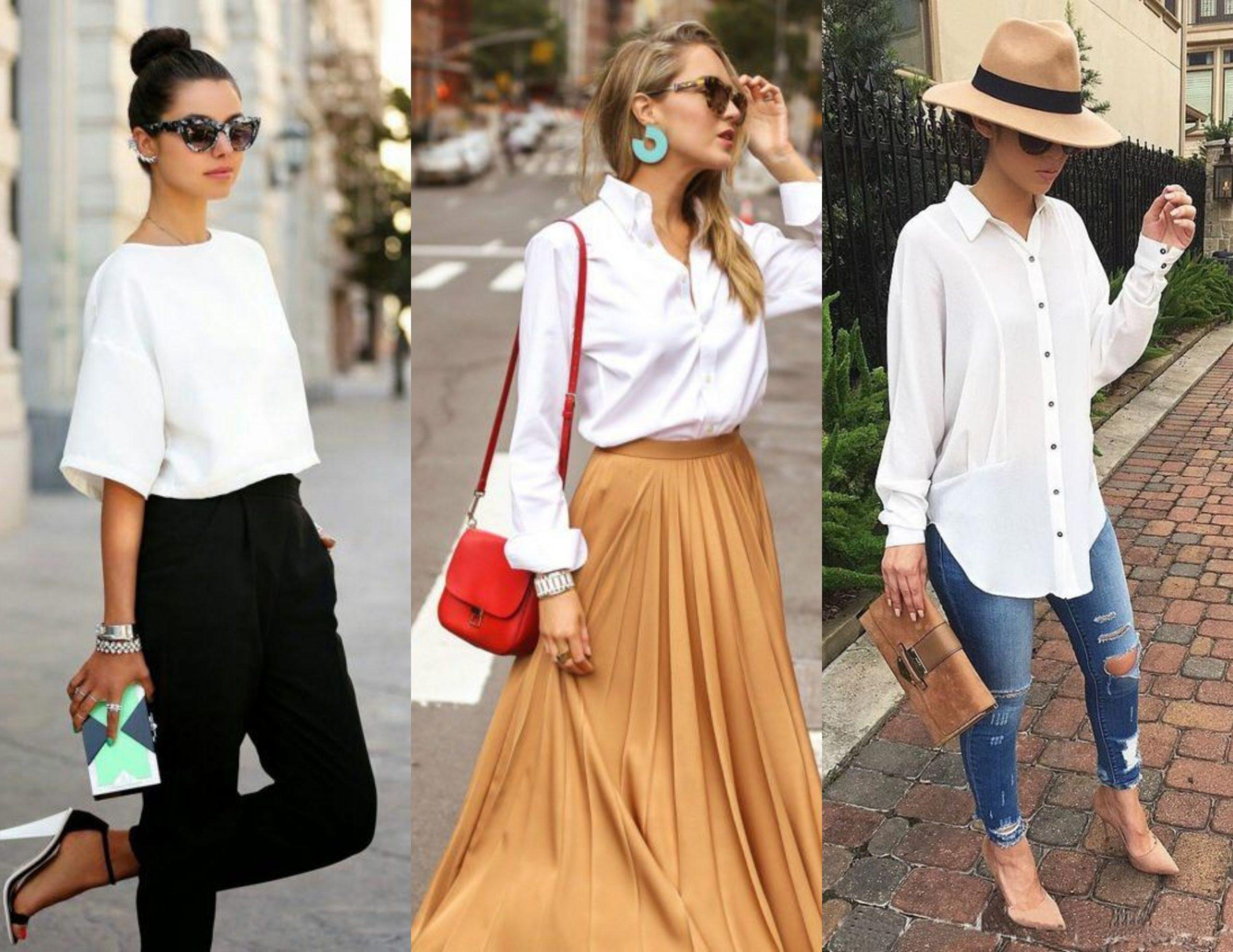 Ideas originales para combinar blusas blancas en 2021