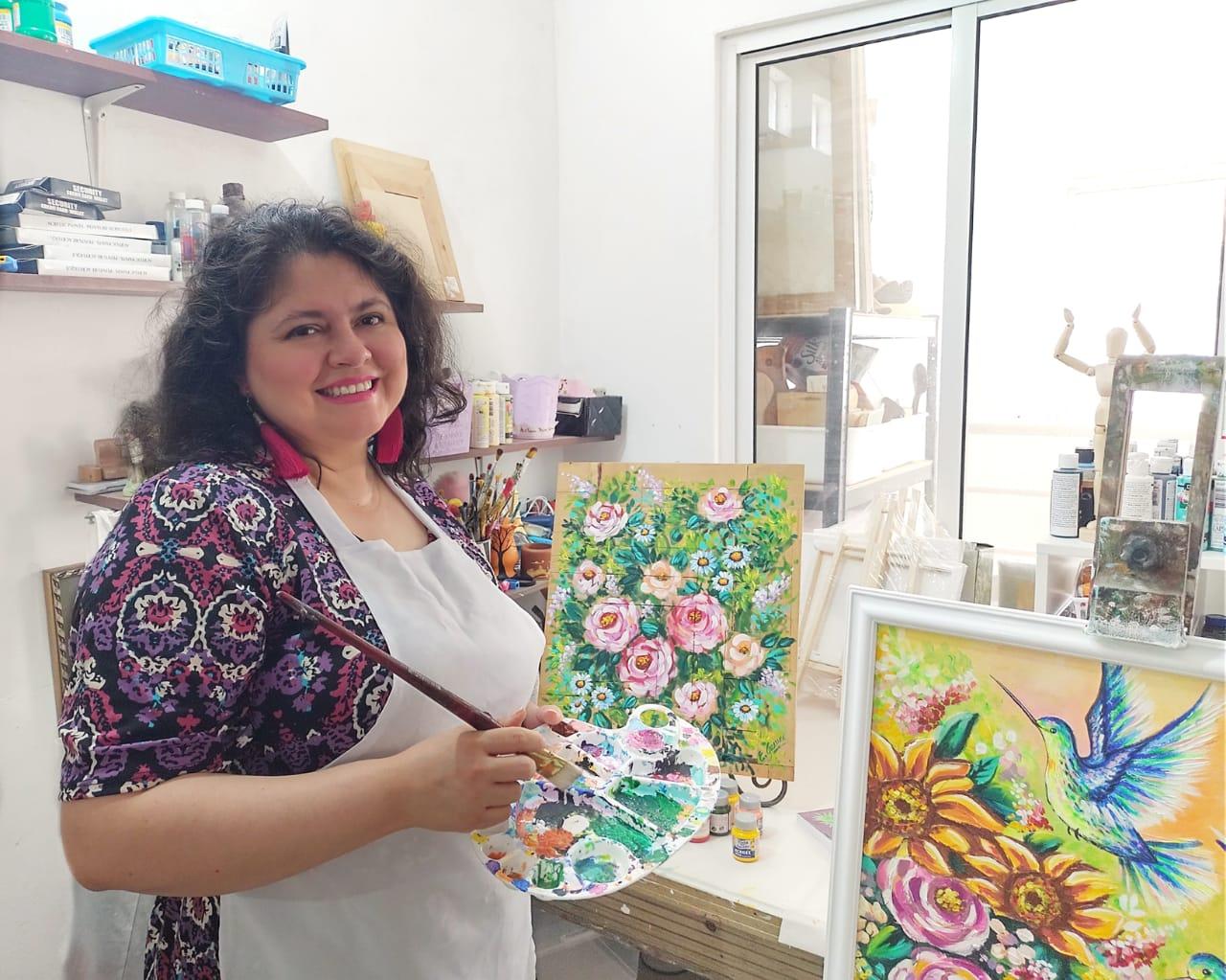 Conoce la historia de Elisa Guerra y su emprendimiento de pinturas