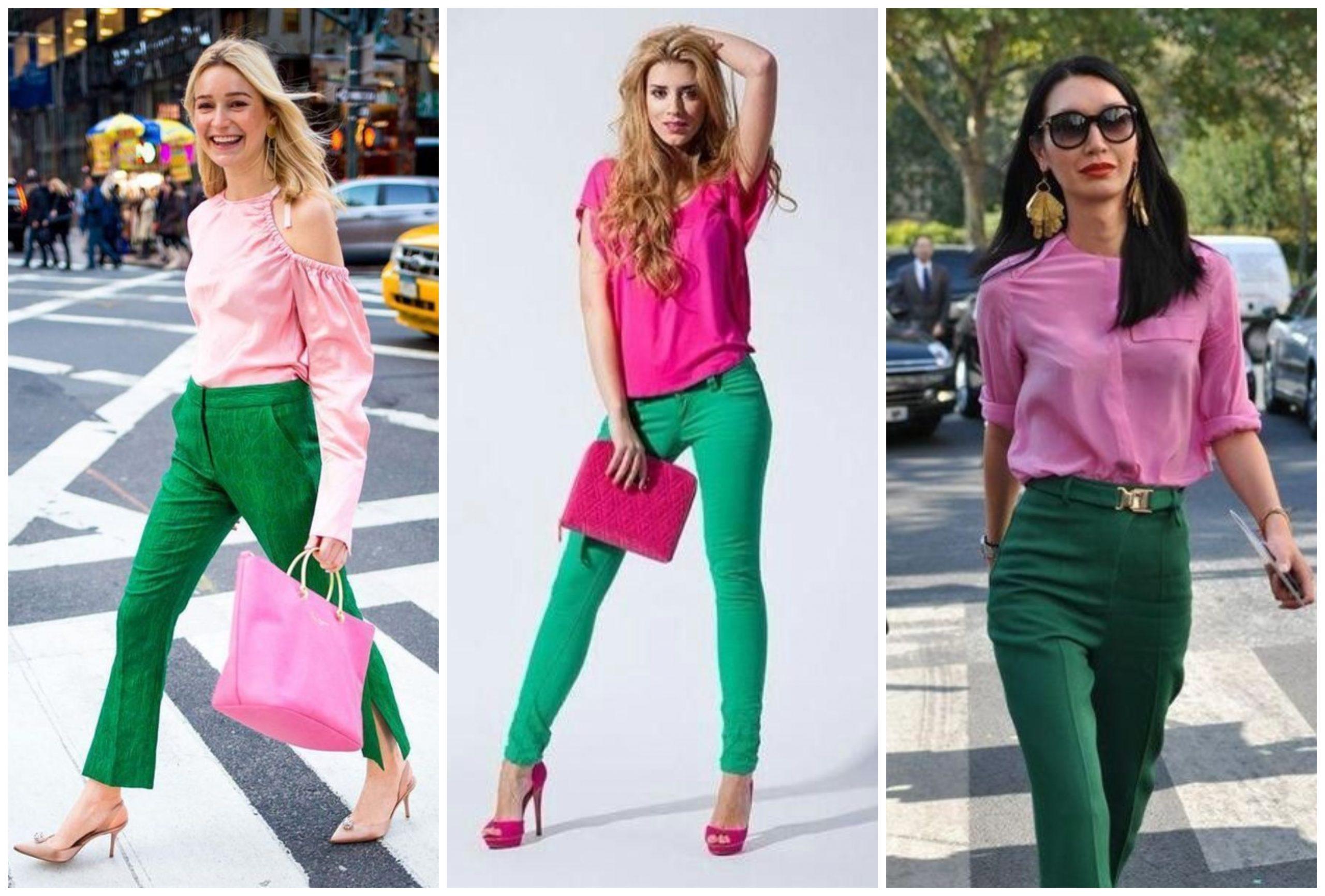 Outfits increíbles para combinar el verde y rosado