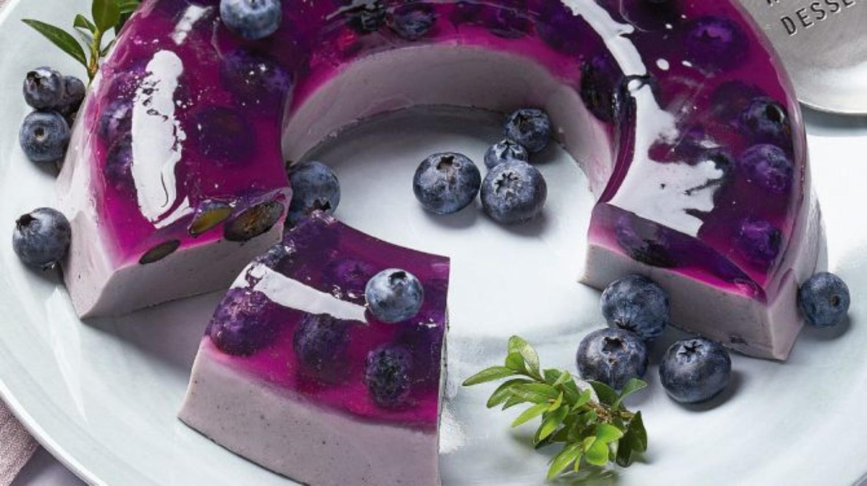 Gelatina encapsulada con blueberry
