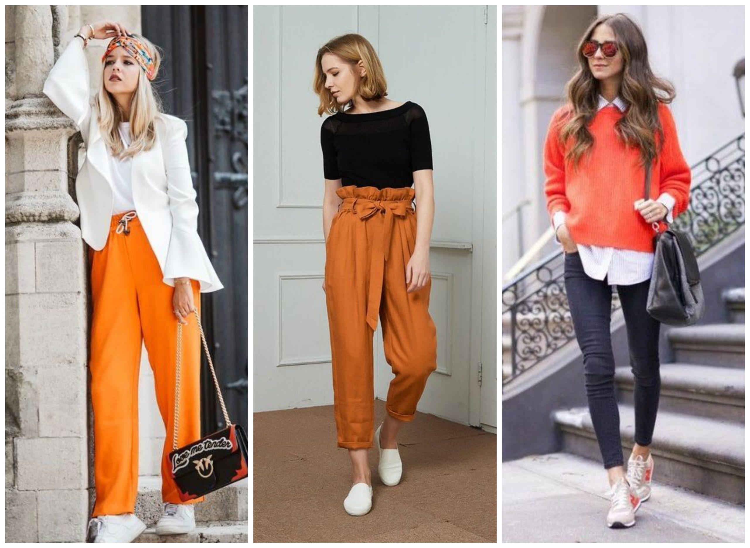Ideas para combinar y crear outfits con el naranja
