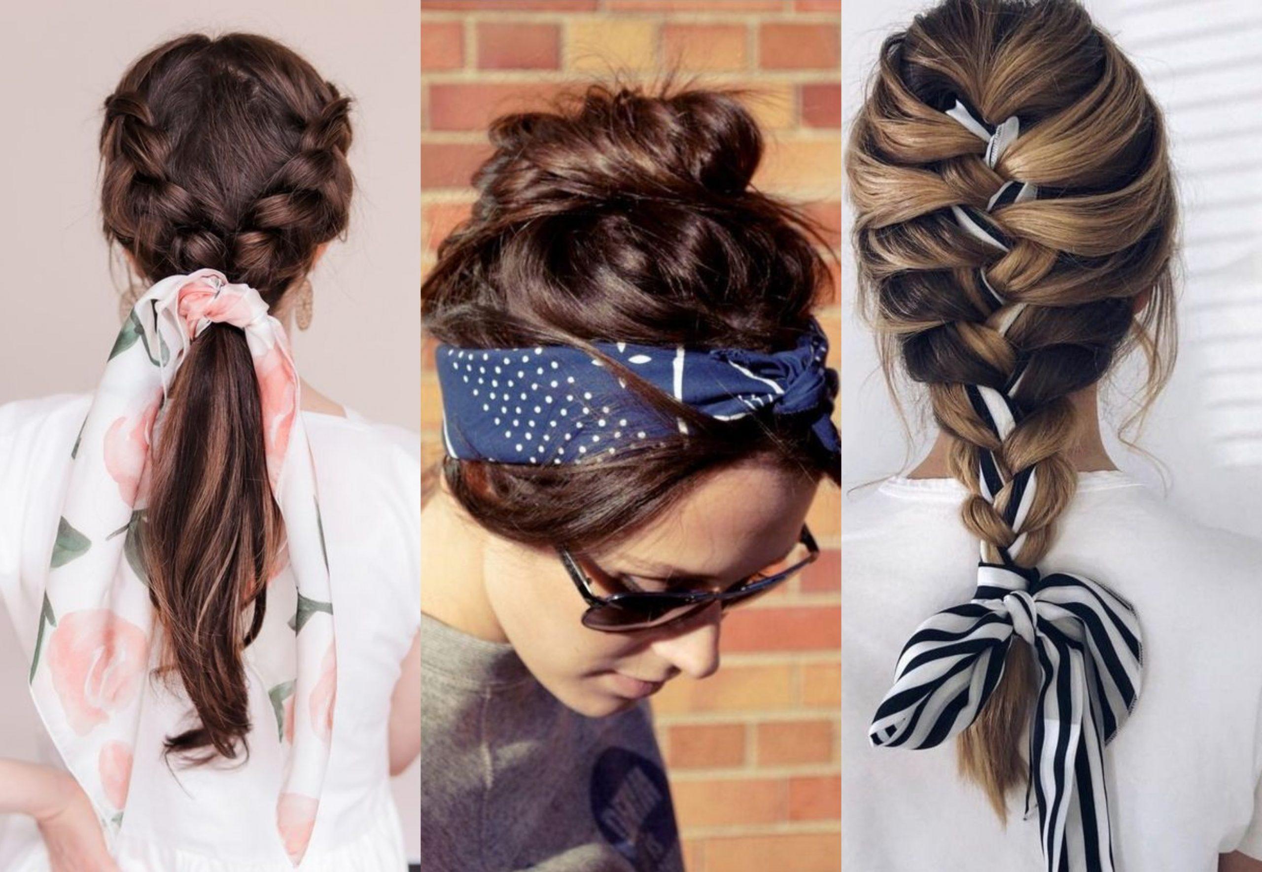 Cinco peinados fáciles con pañuelos