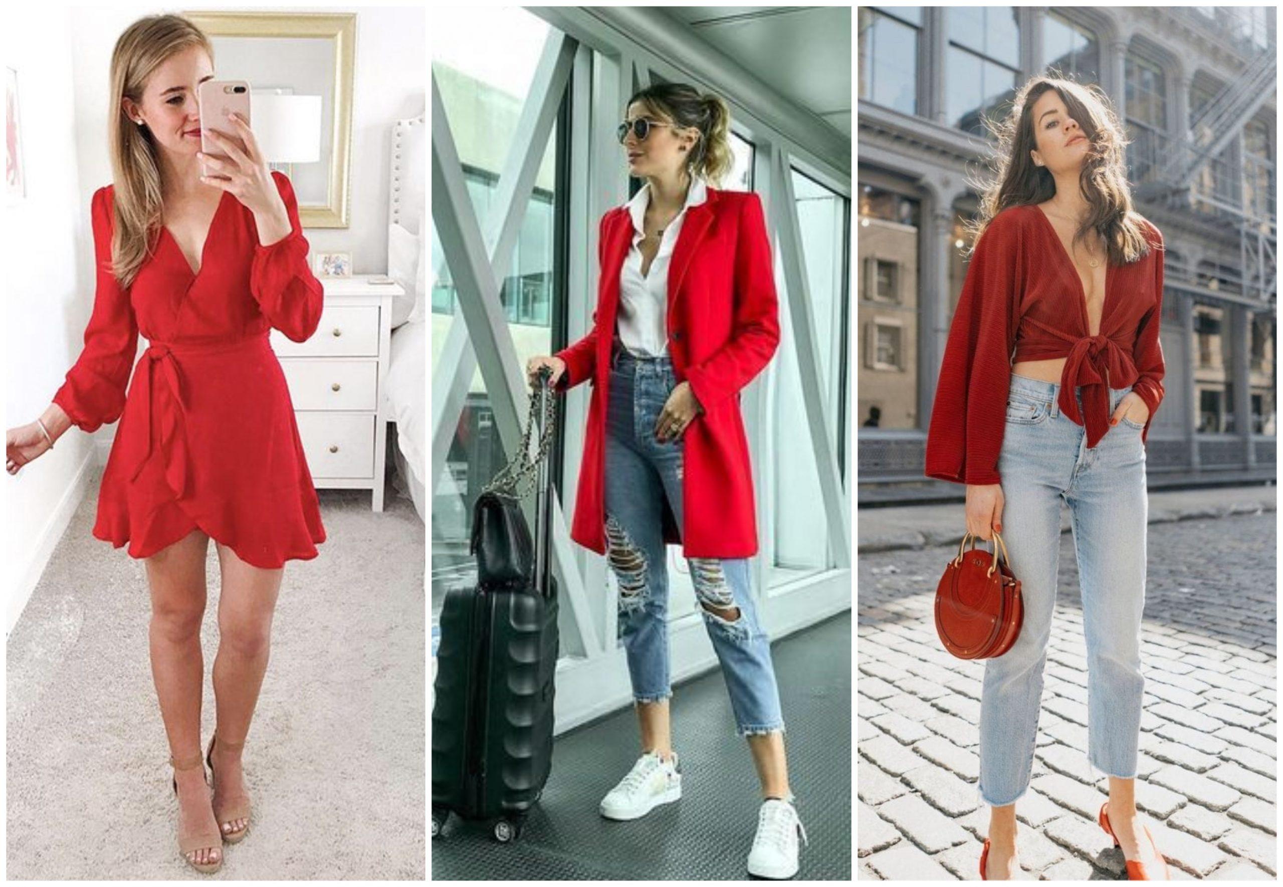 Outfits increíbles y atractivos con prendas de color rojo