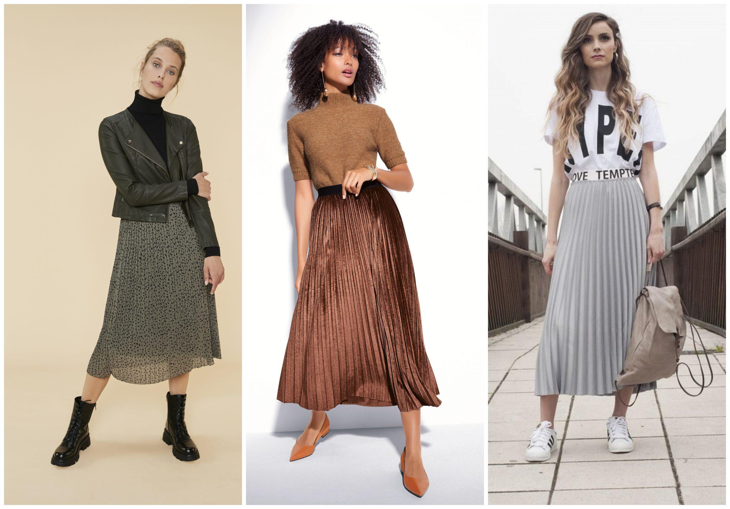 """El nuevo """"must"""" de la temporada fría: la falda plisada"""