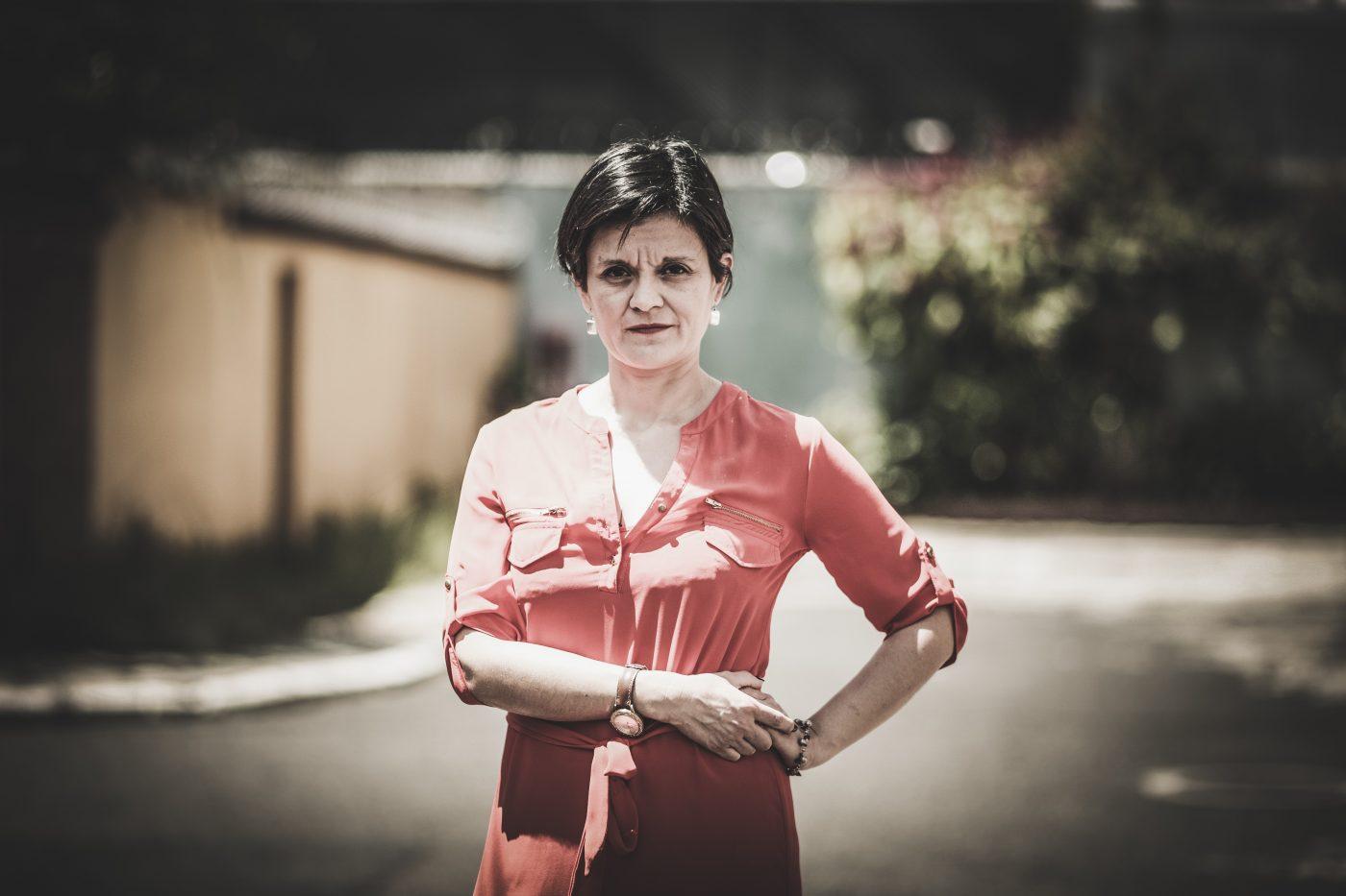 Retrato paciente de síndrome de Tourette