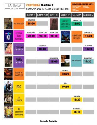 Cartelera La Sala de Cine