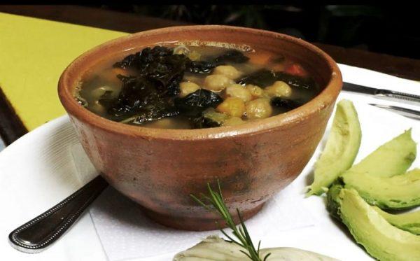 hierbas, kale, sopa, super