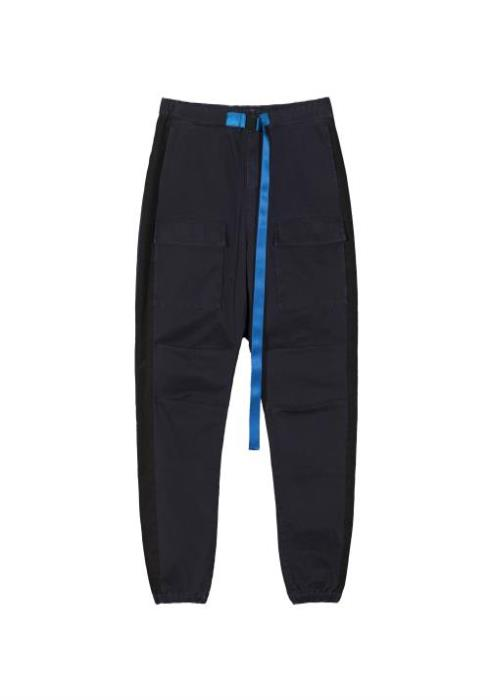 Konus Cargo Pocket Stretch Twill Jogger with Side Stripe