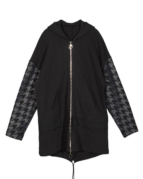 Konus Oversized Zip Front Hooded Jacket