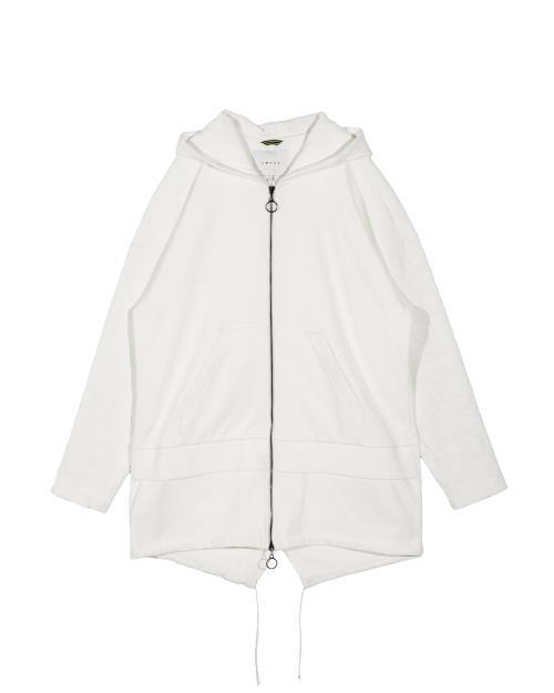 Oversized Zip Front Hooded Jacket