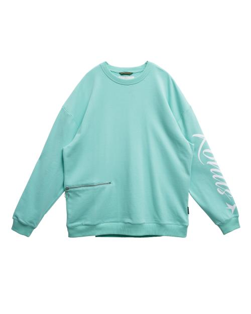 Oversized Sweatshirt with Zipper Pocket