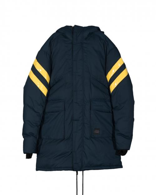 Konus Duck Down Hooded Parka with Contrast Stripes