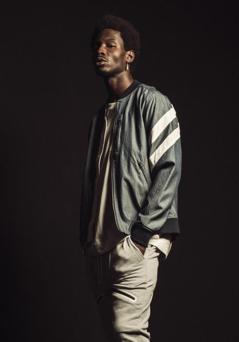 Konus Chambray MA-1 Bomber Jacket with White Stripes