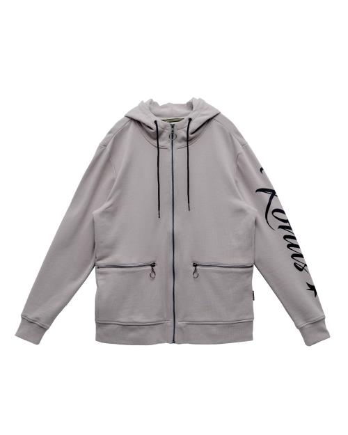 Konus Mock Neck Zip Up Hoodie with Zipper Pockets
