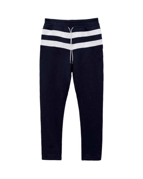 Sweatpants with Contrast Color Stripes