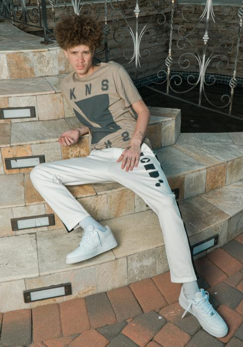 Konus Sweat Pants with Contrast Color Side Stripe