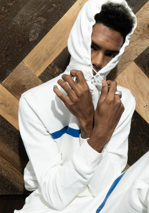 The Community Mock Neck Pull Over Hoodie