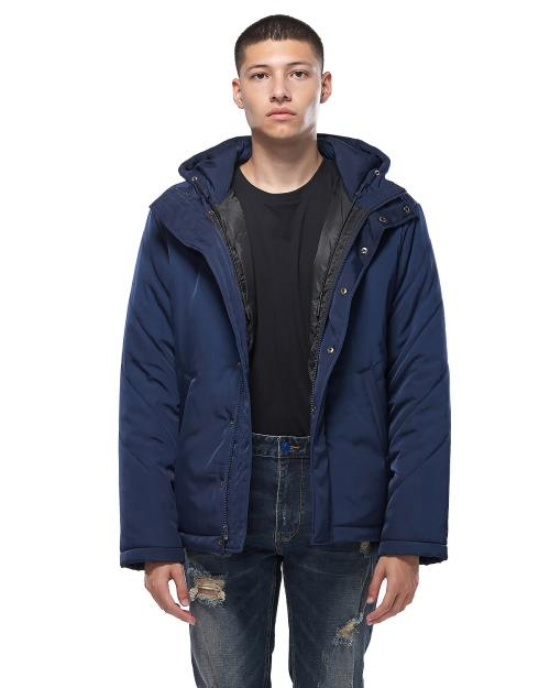 Konus Quilted Hood Jacket in Navy