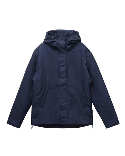 Quilted Hood Jacket in Navy